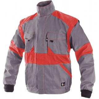 Куртка LUXY EDA сірий/червоний